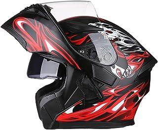 AIS 805 バイクヘルメット システム フリップアップヘルメット フルフェイスヘルメット システムヘルメット ジェット バージョンアップ ダブルシールド 全て9色 PSCマーク付き (赤黒, XL(頭囲60-61センチ))