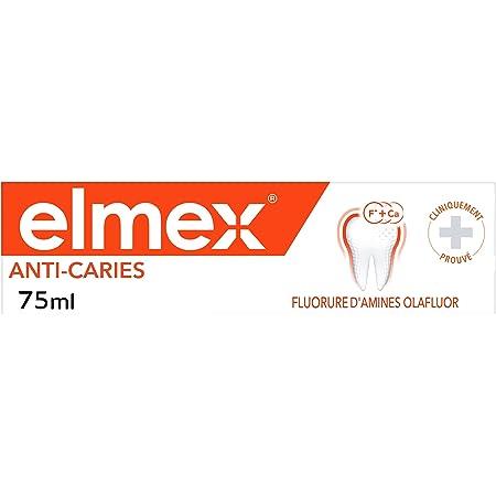 ELMEX - Dentifrice Elmex Anti-Caries - Reminéralise et aide à protéger contre les caries - Bouclier Biactif Calcium-Fluorure - 75 ml