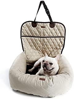 Hel Dog Car Seat Covers Dog Car Seat Covers Pet Dog Carrier Folding Car Seat Pad Safe Carry Puppy Bag Car Travel Accessories Waterproof Bag (Color : Beige)