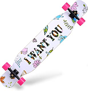 GuanMun Dance Board Brush Street Skateboard Teen Beginner Long Board Road Four Wheel Skateboard Boy and