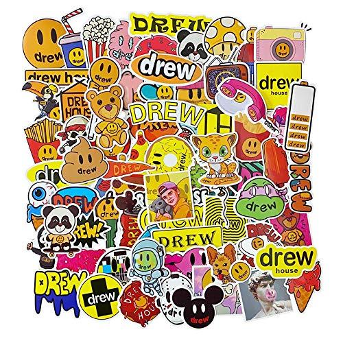 drewhouse Justin Bieber sonriente cara marea marca equipaje pegatinas skateboard teléfono móvil funda impermeable pegatinas 80PCS