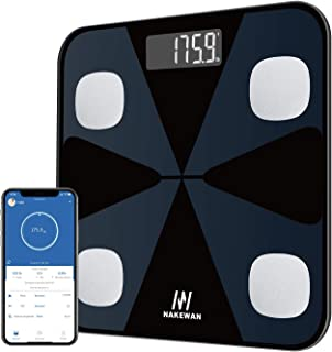 Body Fat Scale, Nakewan Smart BMI Scale Digital Bathroom Health Weight Monitor, Wireless Weight Scale, Body Composition An...