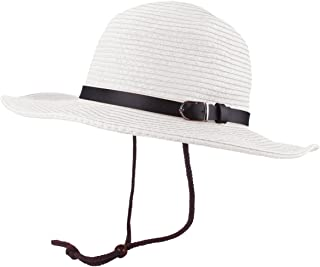 3aa9290d722 Mens Straw Sun Western Cowboy Hat Fedora Outdoor Wide Brim Hat with Strap