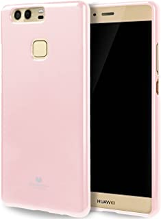 Goospery Pearl Jelly for Huawei P9 Plus Case with Screen Protector Slim Thin Rubber Case (Pink) HWP9P-JEL/SP-PNK