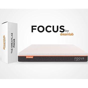 Dreamlab Focus, Colchón Ortopédico de Memory Foam con Gel y 9 Zonas de Soporte, Espumas Certificadas CertiPUR-US®, Soporte Firme, Tamaño Matrimonial (135cm x 190cm x 20cm)
