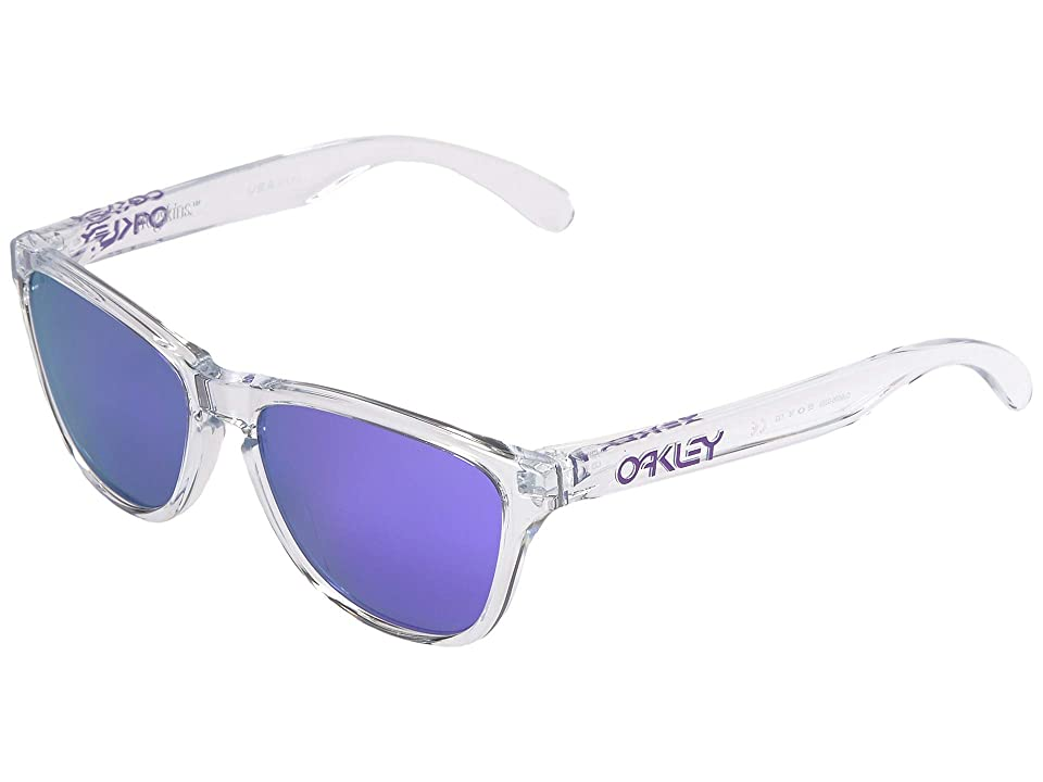 Oakley Frogskin XS (Youth) (Polished Clear w/ Violet Iridium) Sport Sunglasses