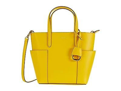 LAUREN Ralph Lauren Carlyle 20 Tote Mini (Racing Yellow/Lauren Tan) Handbags