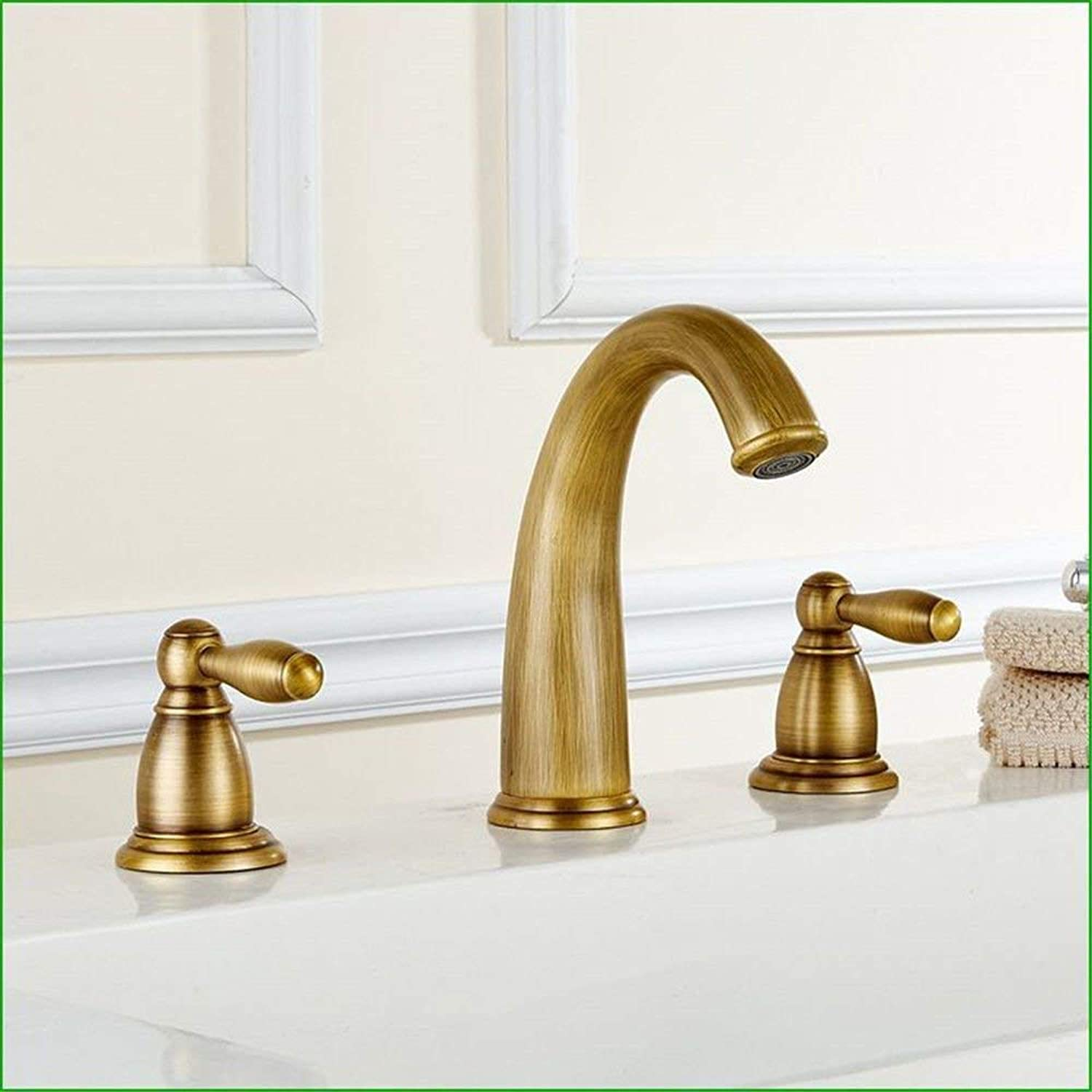 Oudan Kitchen mixer faucets solid brass kitchen sink basin mixer tap two handle tap mixer taps (color   -, Size   -)