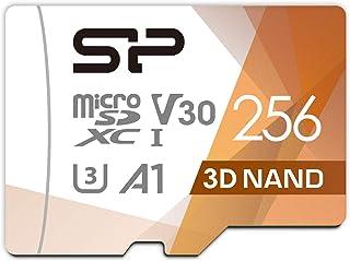 シリコンパワー microSD カード 256GB class10 UHS-1 U3 対応 最大読込100MB/s アダプタ付 3D Nand 2019年モデル 【Amazon.co.jp限定】