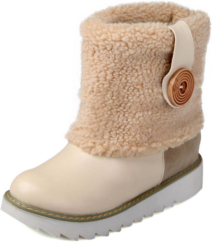 KemeKiss Women Boots Pull On Collar Cuff