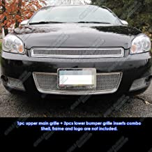 APS Compatible with 2006-2013 Chevy Impala Mesh Grille Grill Insert Combo N19-T71877C