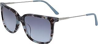 نظارة شمسية للنساء من كالفن كلاين، باللون الازرق، 55 ملم، طراز CK19702S