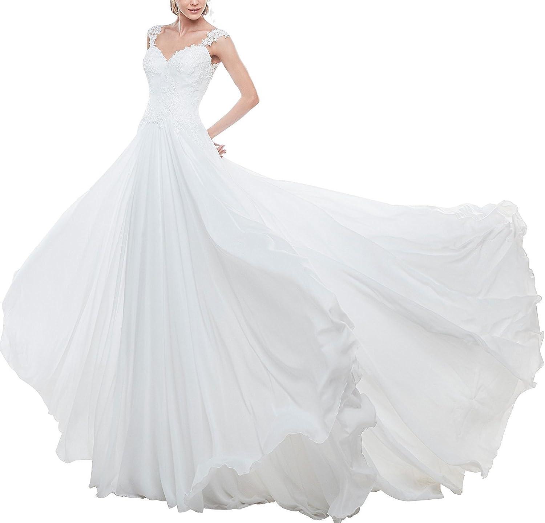 Fashionbride Women's Boho Wedding Dresses Long Bridal Gowns Formal Dresses 2017