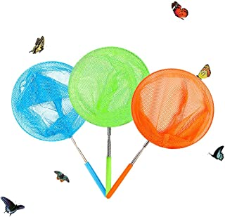 Skrtuan Kids Telescopic Butterfly Fishing Nets Great for Catching Insect Net Perfect Outdoor Tools for Catching Bugs Fish ...