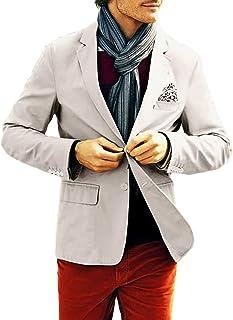 Mens Casual Blazer Slim Fit Suit Jackets 2 Buttons Formal Suit for Business Wedding Tuxedo Coat