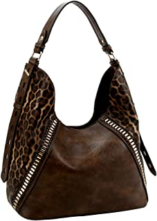 Exotic Leopard Print Extendable Adjustable Vegan Leather Single Strap Hobo Bag