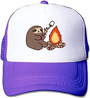 Men/Women Campfire Sloth Mesh Snapback Hats Adjustable Trucker Hat