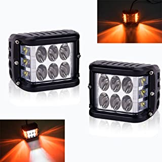 AutoMotor Dually Side Shooter Led Pods Work Light Cube Cree 3'' inch Led offroad Driving lights 45W for Jeep A Pillar ATV UTV TRUCK Lights