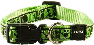 Rogz Fancy Dog Collar, Lime, Medium