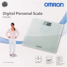 Omron Personal Digital Weighting Scale, Up To 180 Kg, White - Hn286