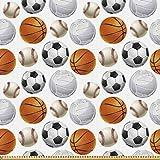 ABAKUHAUS Sport Stoff als Meterware, Fußball und
