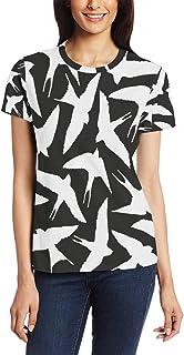 XiangHeFu T Shirt voor Vrouwen Meisjes Vogelzwaluw Aangepaste Korte mouw