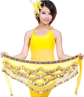 Fulision Elegant Women's Belly Dance Costume Comfortable Hip Scarf Waist Chain