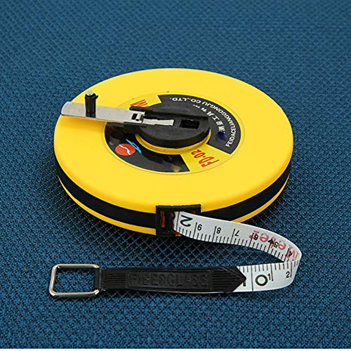 CLX 50M Manual disc Tape Measure, Soft Fiber Leather Ruler, Waterproof, not Easy to Break, high Calibration Accuracy, Used for Building Measurement