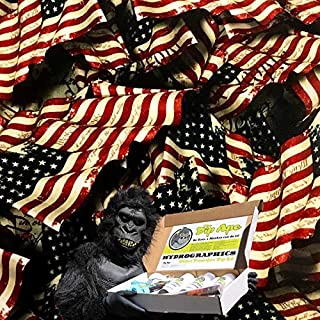 Hydrographic Film Kit Dip Ape We The People Flag Constitution Preamble United States of America Hydrographics Water Transfer Hydro Dip Dipping Kit