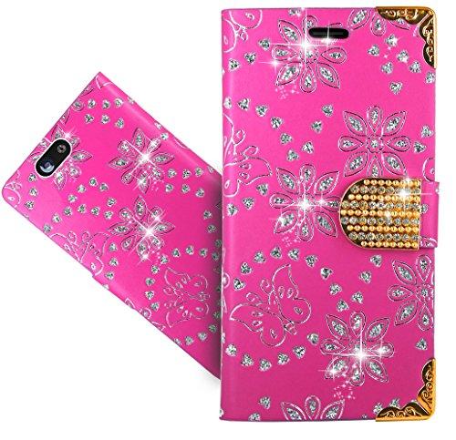 Wileyfox Spark/Spark+ / Spark Plus Handy Tasche, FoneExpert® Bling Luxus Diamant Wallet Hülle Flip Cover Hüllen Etui Hülle Ledertasche Lederhülle Schutzhülle Für Wileyfox Spark/Spark+ / Spark Plus