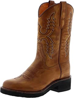 Sendra Boots Damen Cowboystiefel 11615 Siena Westernreitstiefel Lederstiefel Braun