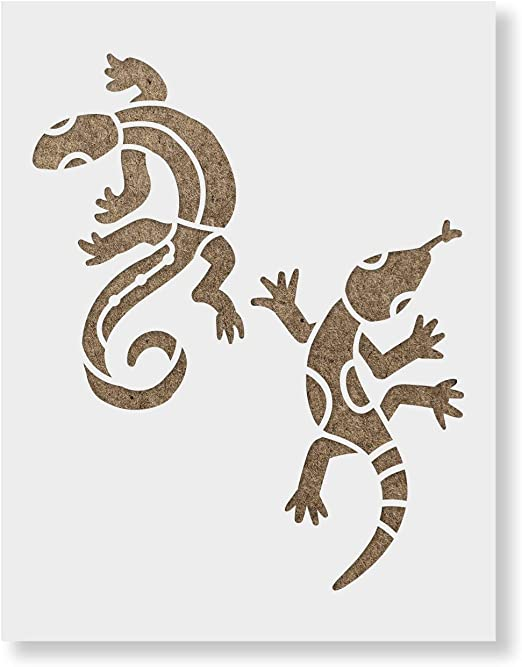 Large Lizard Tribal Stencil Mylar plastic 190mic A4 sheet size  strong reusable Painting Airbrush Craft Art Furniture Wall Deco