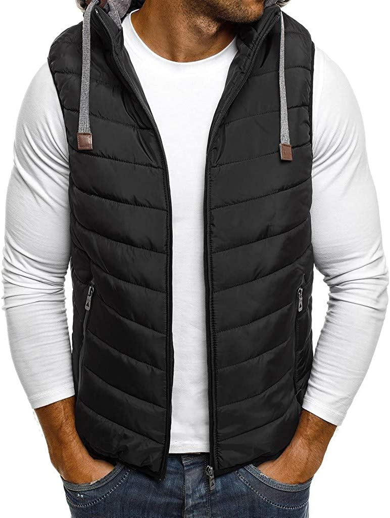 Vest Jacket for 5 ☆ popular Men Hoodie Autumn Pure Fashion Col Zipper Winter Tampa Mall