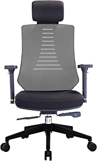 KLASIKA Ergonomic Office Chair with Height Adjustable Back and Lumbar Support Swivel Fabric Seat for Computer Home Desk
