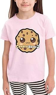 Graphic Cotton Baby Boy Girls Coo_kie S_wirl C Shirts Pink