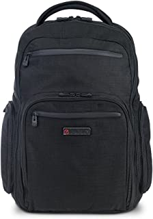 ECBC Hercules Series TSA FastPass Friendly, Premier Quality Laptop/MacBook Backpack Designed for Men and Woman - Ideal for Travel, School, Business and Sport - Black
