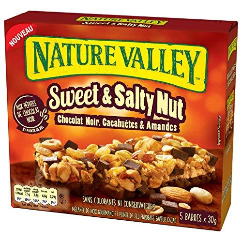 Nature Valley Sweet Salty Chocolat Noir 5 x 30 g - lot de 5 (25 barres)