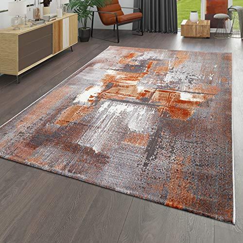 TT Home Alfombra Pelo Corto para Salón, Diseño Cuadros Abstractos, Efecto 3D, Multicolor, Größe:160x220 cm