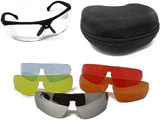 Multi-Lens Safety Glasses Professional Range Goggles - Protective Eyewear 8 Piece Kit