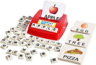 BOHS Literacy Wiz Fun Game - Upper Case Sight Words - 60 Flash Cards - Preschooler Language Learning Educational Toys
