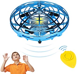 Hand Operated Drones for Kids or Adults, Easy Indoor Small Orb Flying Ball Drone Toys for Boys or Girls, UFO Flying B...