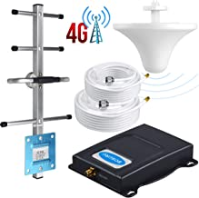 BOSURU Cell Phone Signal Booster ATT Signal Booster Amplifier Band 12/17 T-Mobile 4G LTE 700Mhz AT&T Cell Signal Booster ATT Cell Phone Booster Repeater AT&T Cell Booster with Antenna Kit For Home Use