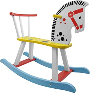 INNOLIFFE Rocking Horse, Kids Wooden Rocking Horse for Nursery Ride On Toy for Boys and Girls