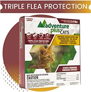 Adventure Plus Triple Flea Protection for Cats, 5-9 lbs, 4 Months, 4 Doses