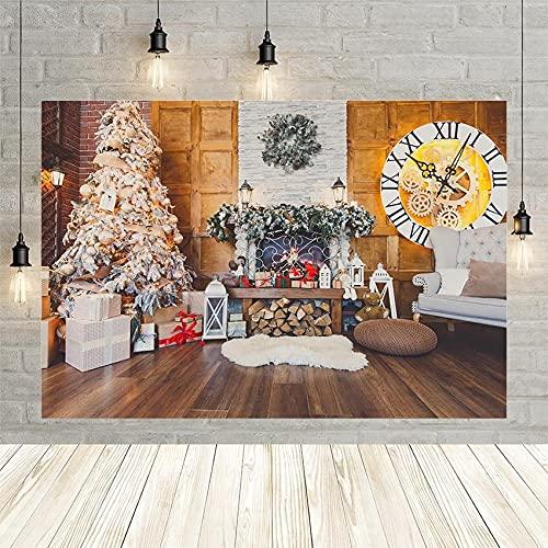 Árbol de Navidad Regalo de Pared Linterna Chimenea Guirnalda Piso Fiesta decoración del bebé r telón de Fondo Estudio fotográfico Personalizado Vinyl-250x180cm