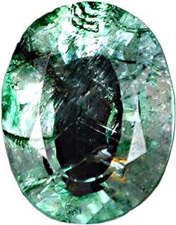 GEMHUB Esmeralda verde con forma ovalada certificada 3,50 quilates, piedra natural de corte brillante para hacer pendiente...
