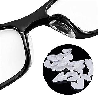 Coussinets de nez 5 paires lunettes de lunettes accessoires de nez adhésif de forme D- lunettes de nez adhésif pour lunett...