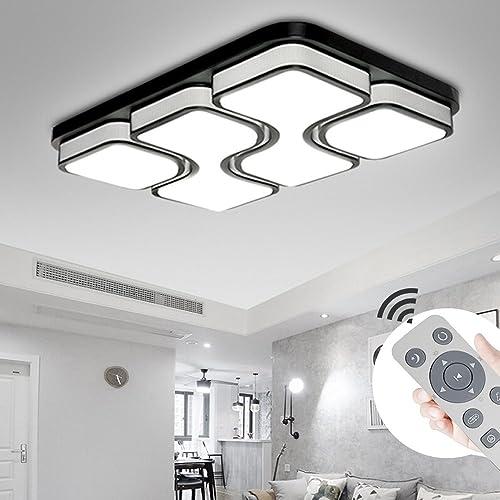 MYHOO 78W Moderne LED Lampe de plafond Dimmable LED Plafonnier Chambre à coucher Cuisine Couloir Lampe de salon Lumière murale Lumière d'économie d'énergie [Classe énergétique A++]