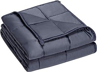 COSTWAY Gewichtsdecke aus Bambusfaser und Baumwolle, Schwere Decke Anti Stress, Beschwerte Decke Grau, Gewichtete Decke, Weighted Blanket für Erwachsene und Kinder 152x203cm, 9.1