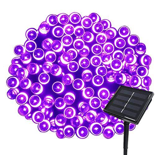 Tuokay 22M Guirlande Solaire 200 LED 8 Jeux de Lumière Guirlande Lumineuse Idéal pour Fête, Mariage, Anniversaire et Jardin Extérieur (Violet, 1 Pièce)